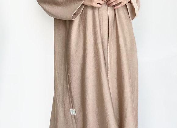 Brown Abaya Set - Dress