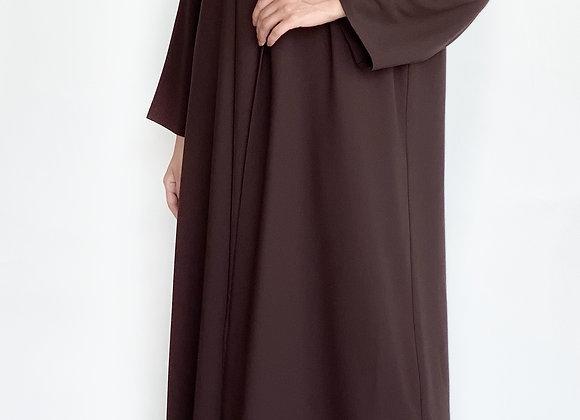 Dark Brown Chiffon Abaya