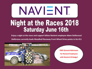 """""""Navient Night at the Races"""" at Woodhull Raceway Saturday Night"""