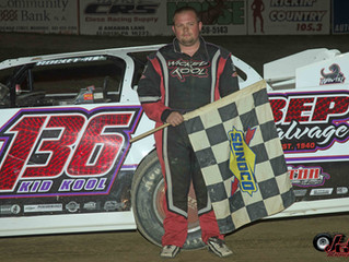Pangrazio Wins Feature, Knowles King of the Bullring In Troups Creek Auto Parts Season Opener