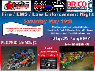 Fire/EMS/Law Enforcement Night May 19th is a GO!