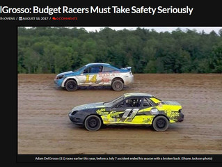 DelGrosso Featured In Race Chaser Online Story On Safety