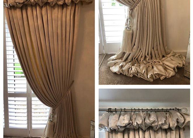 Beautiful Handmade curtains in a smooth