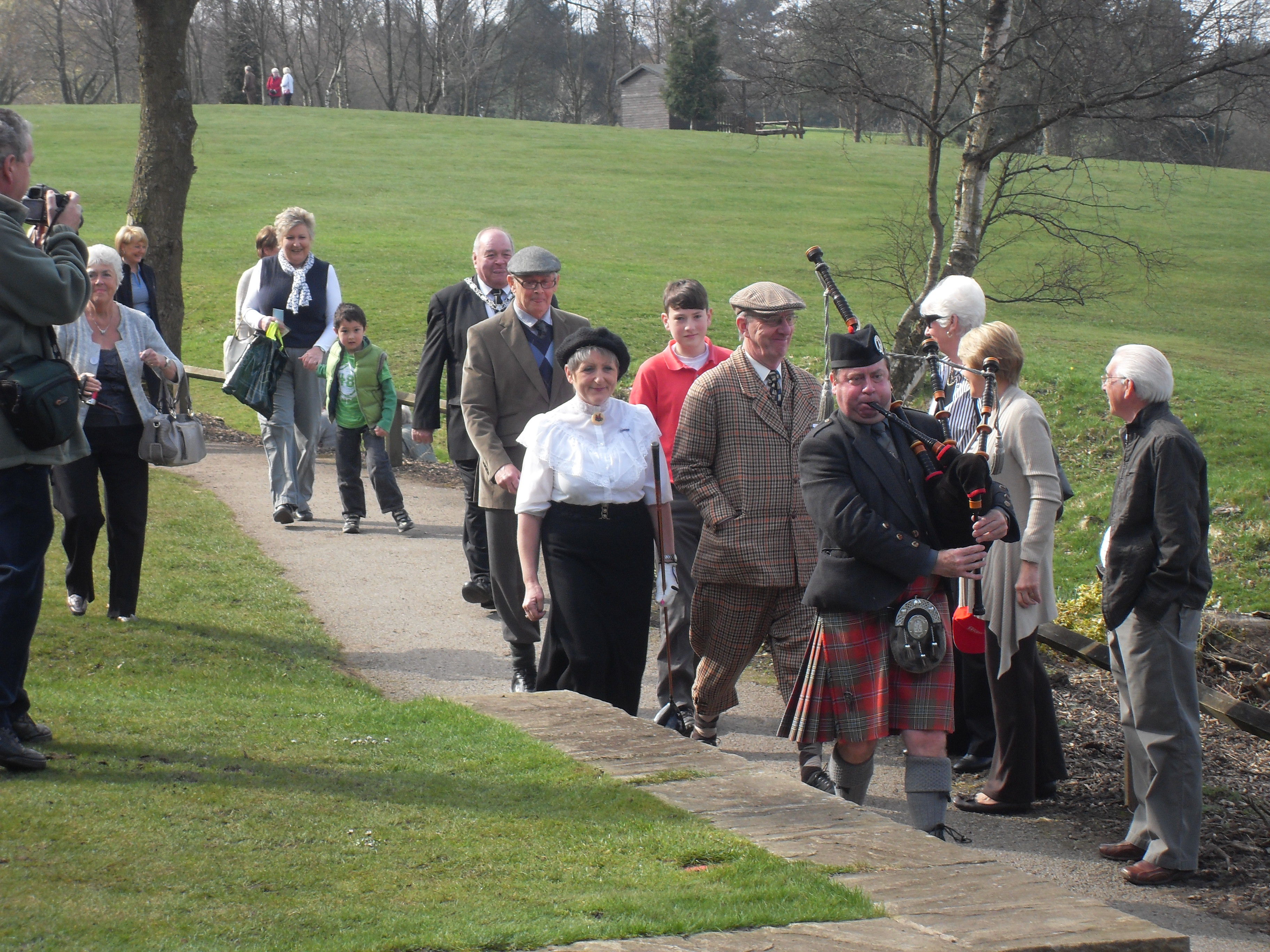 Official unveiling of Whickham golf club