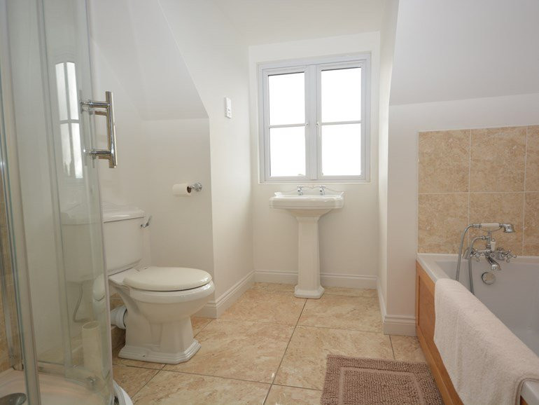 Ensuite bathroom at The Mill House at Me