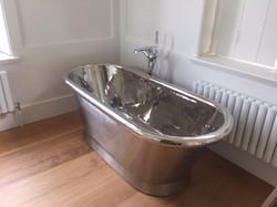Bathrooms - polished cast iron bath