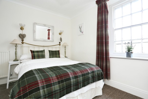 Beewerly Hall Farm double bedroom tartan