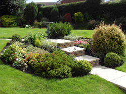Sloping garden designs Newcastle upon Ty