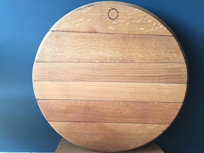 Extra Large Oak Scottish Whisky Barrel Serving Platter