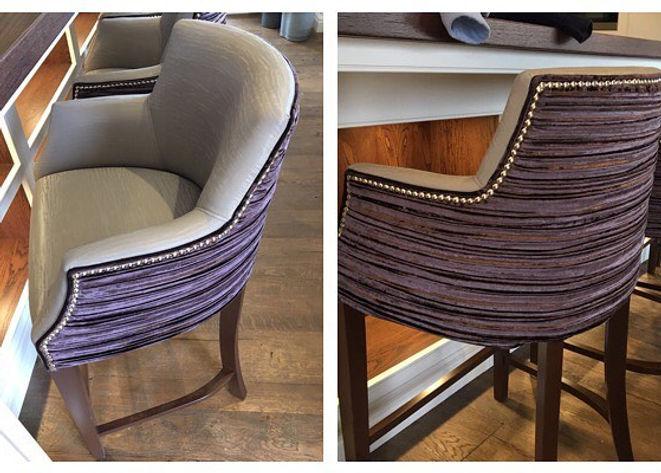 Handmade barstools bespoke upholstery Br