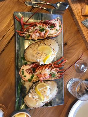Fresh Seafood platter at Gallanach Lodge0001.JPG