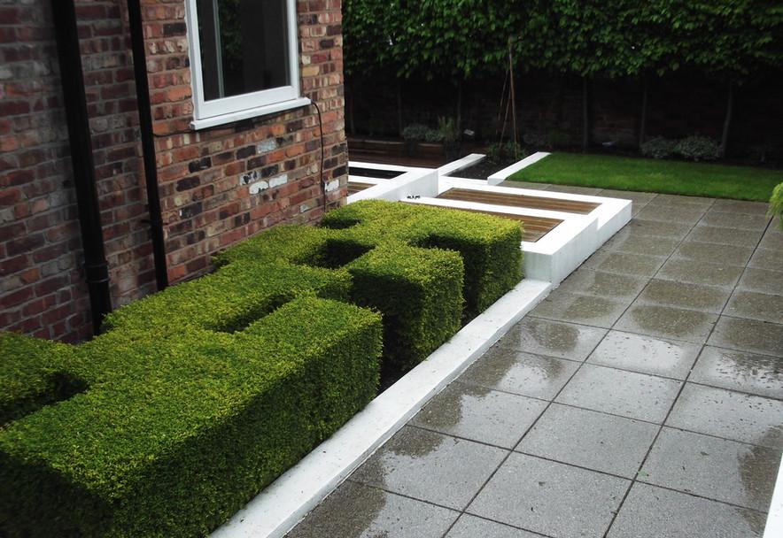 Contemporary garden in Didsbury Manchester