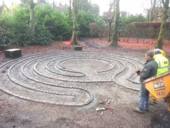 Labyrinth design at Walkden Gardens (Sale Cheshire)