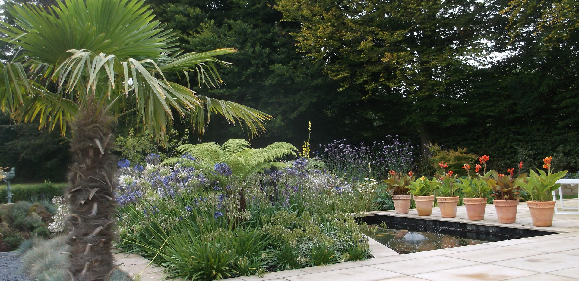 Modern garden design in Hale, Cheshire
