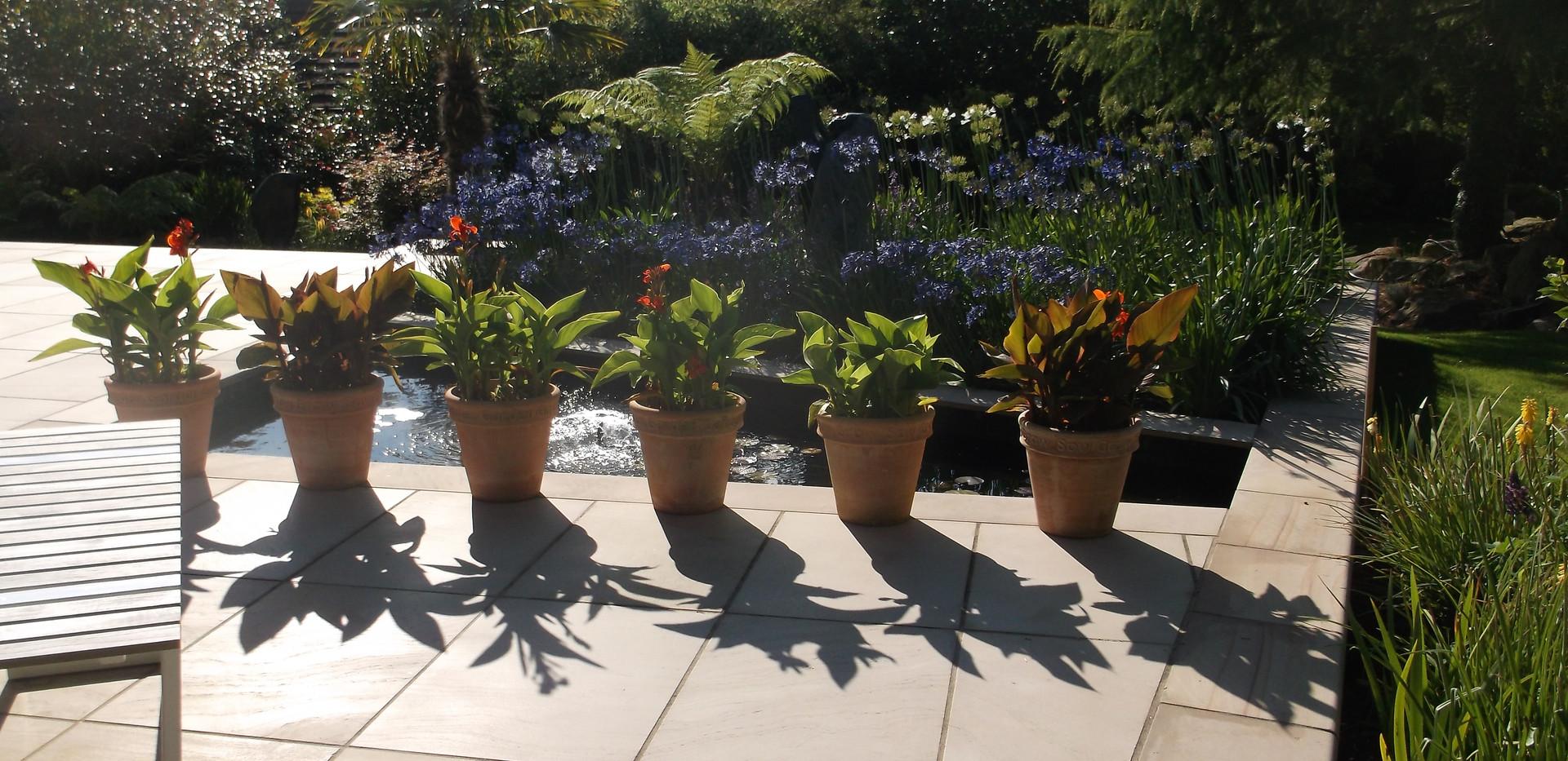 Modern garden design in Hale, Cheshire