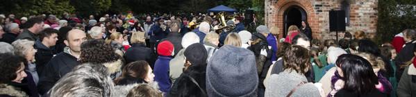 Annual carol service at Walkden Gardens Sale Cheshire