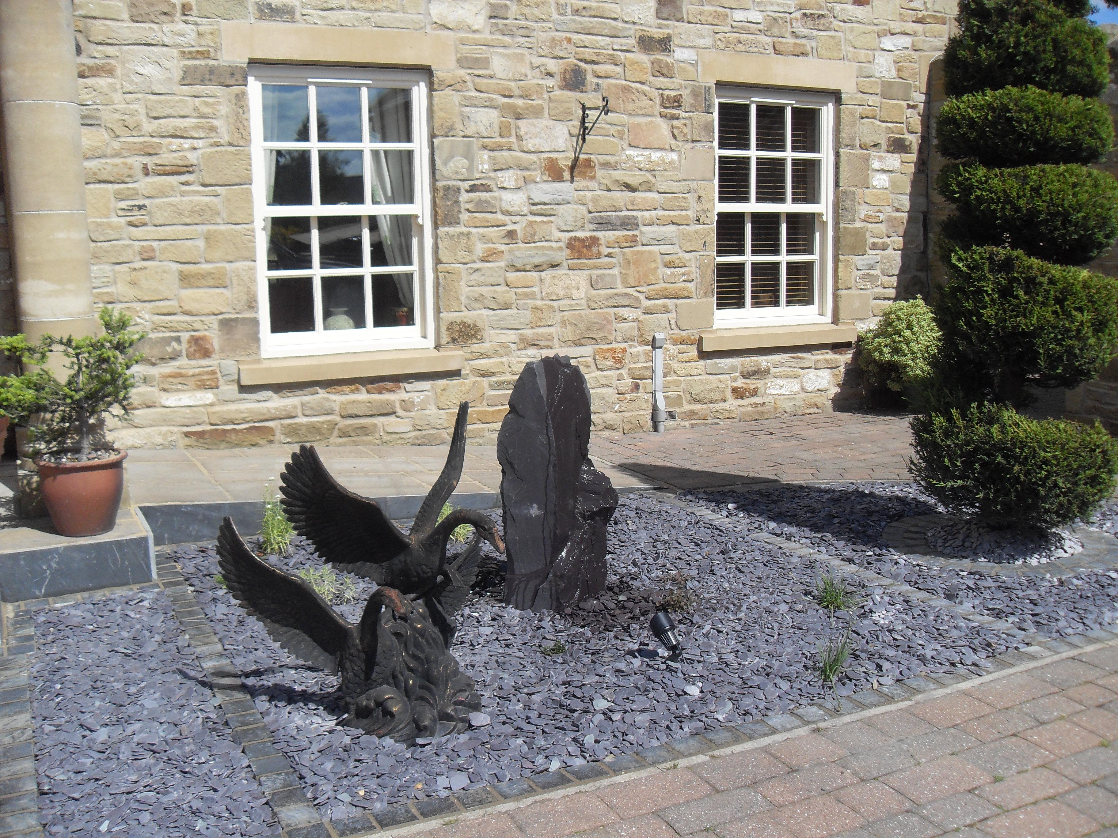Front garden water