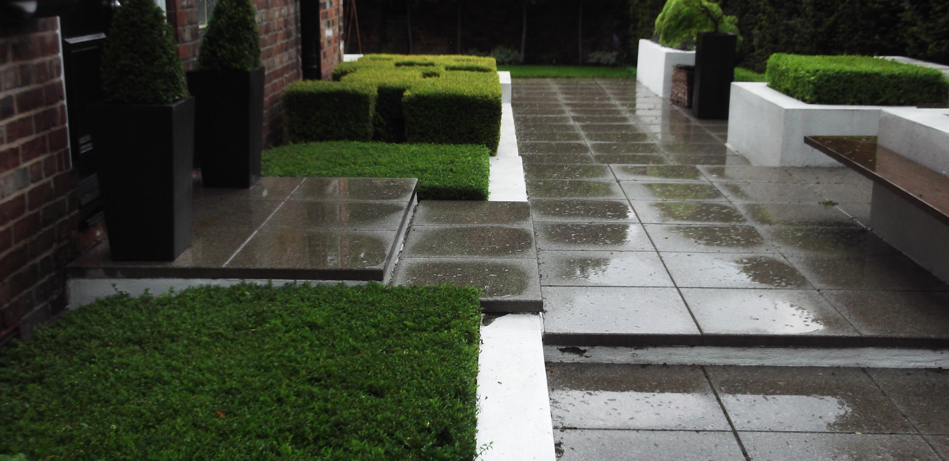 Contemporary garden in Didsbury Manchester