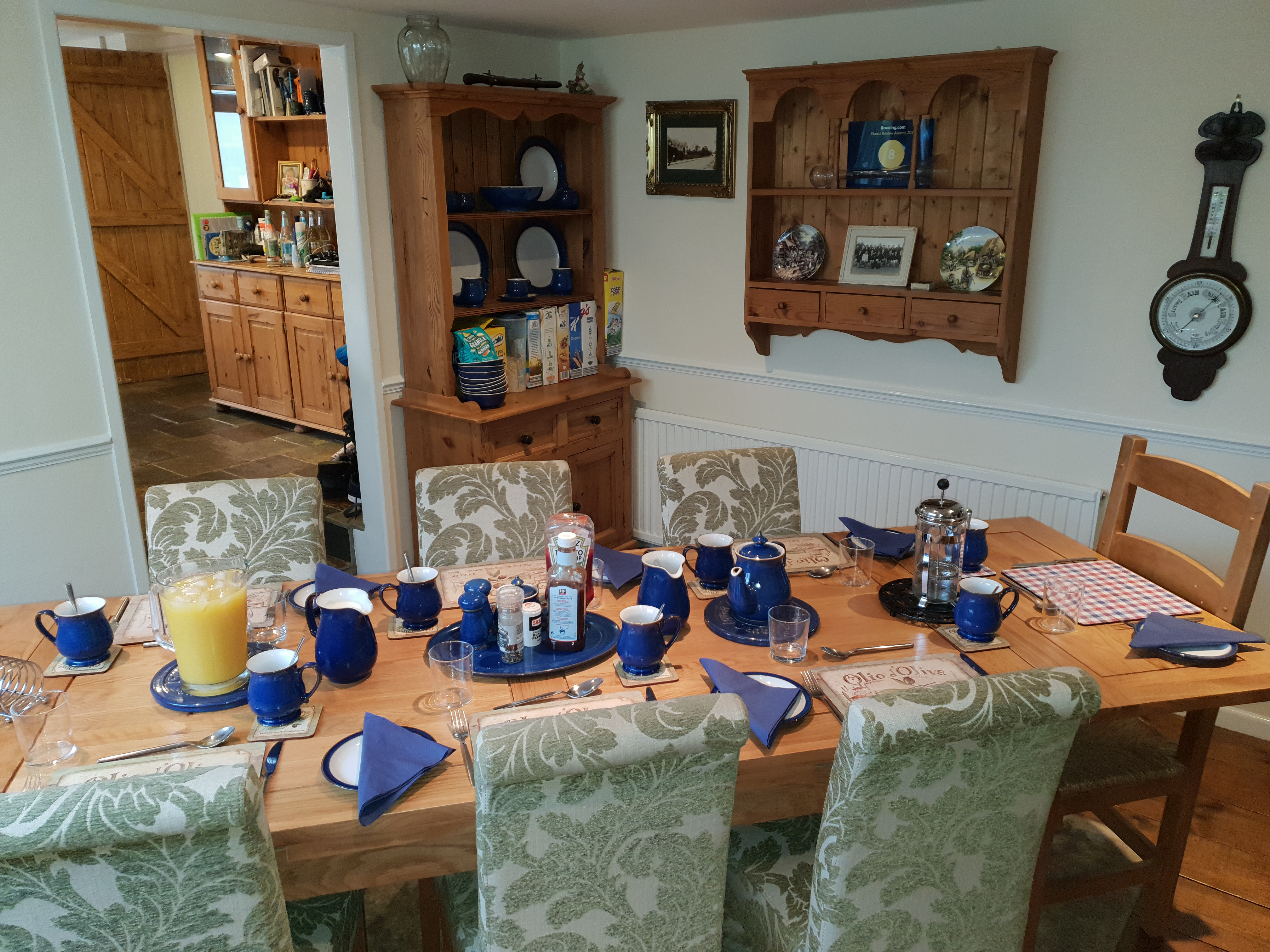 Milbatch Farm B&B breaksfast table, Mear