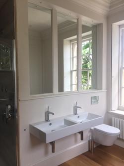 double square contemporary styed bathroom washbasins