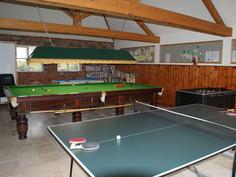 Games room at Bridge Farm Cottages Brigh
