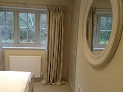 full length warm cream curtains