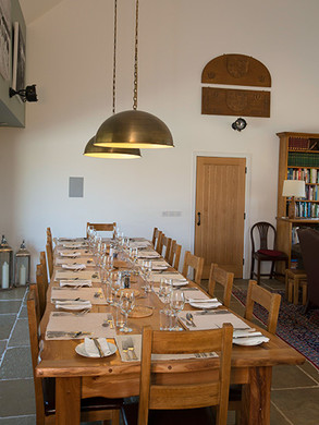 Dining at Gallanach Lodge on the Isle of