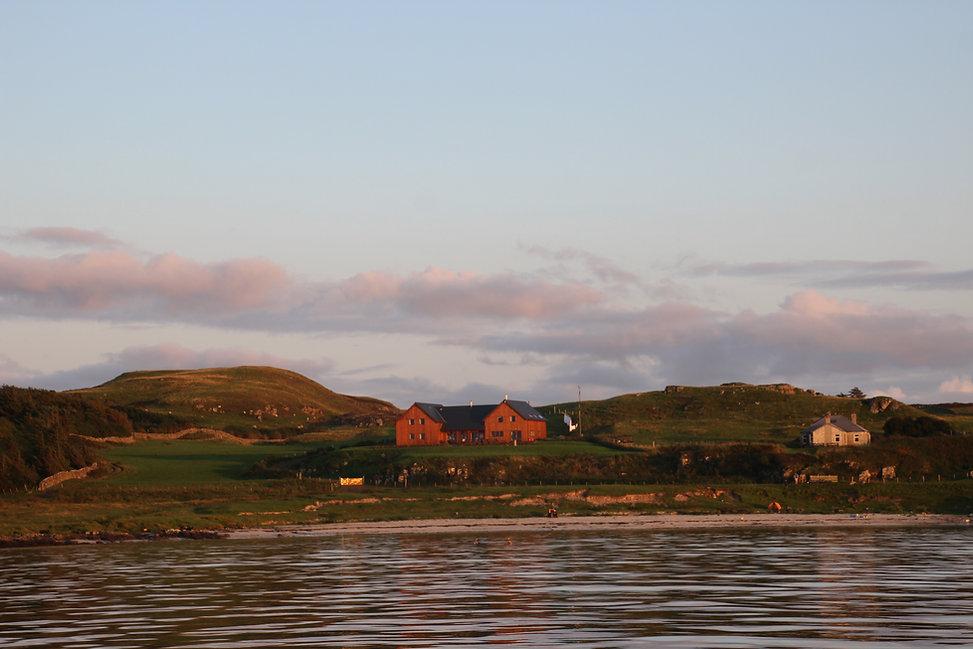 Galanach Lodge Isle of Muck - sea vicew.