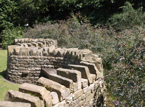 The Serpentine wall Walkden Gardens (Sale Cheshire)