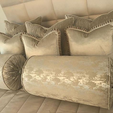Glamorous bed set #bespokebed #handmadec