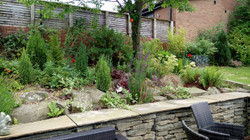 A large garden after extension completed