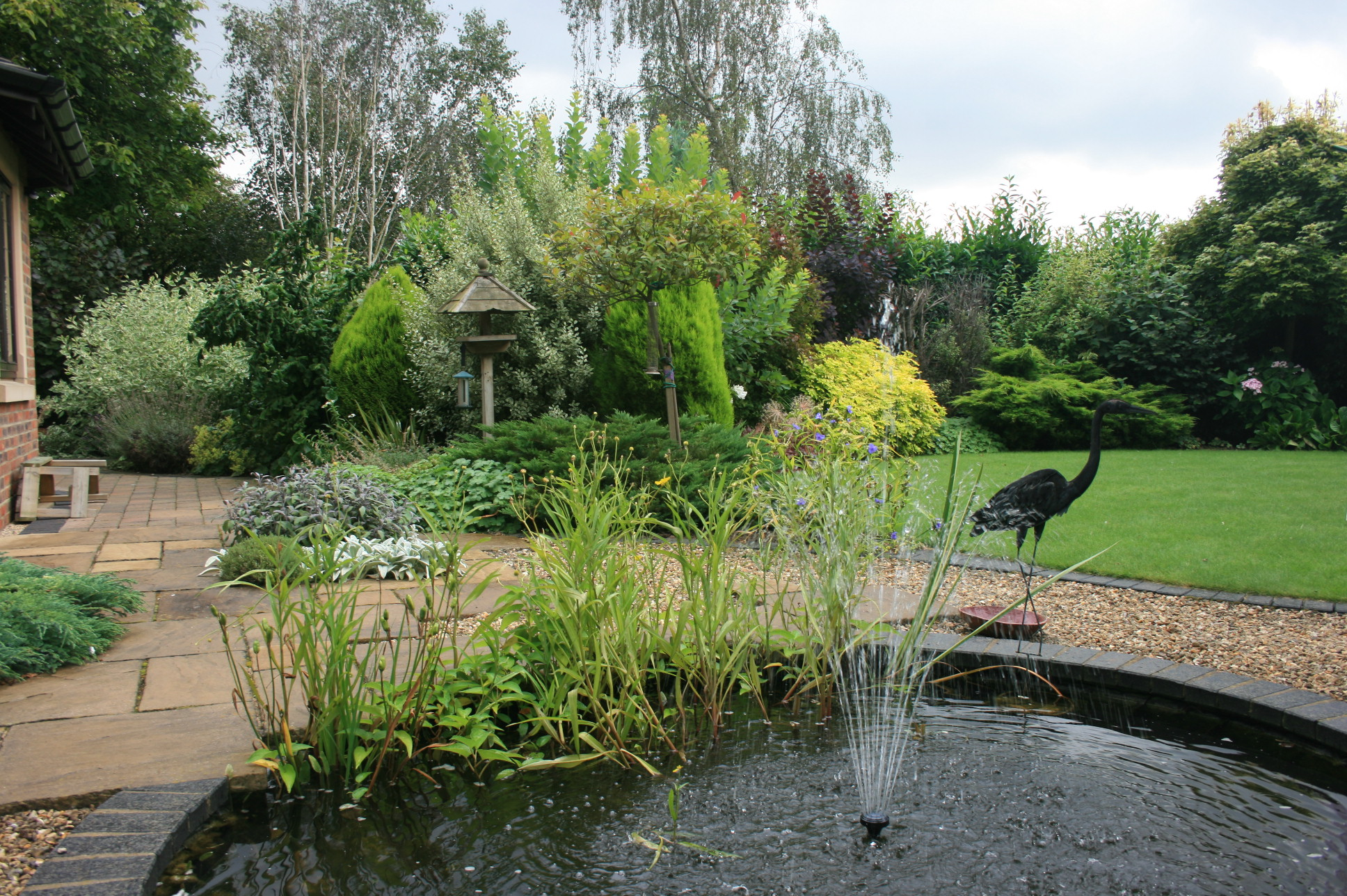 Pond on the terrace