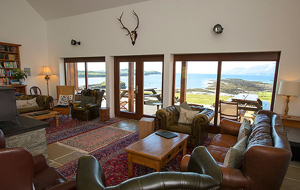 Lounge at Gallanach Lodge on the Isle of