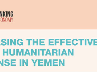 INCREASING THE EFFECTIVENESS OF THE HUMANITARIAN RESPONSE IN YEMEN