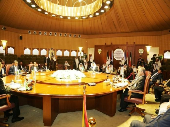 A handout picture released by the official Kuwait News Agency (KUNA) on April 21, 2016 showing delegations taking part in the Yemen peace talks, in Kuwait City.