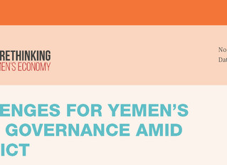 CHALLENGES FOR YEMEN'S LOCAL GOVERNANCE AMID CONFLICT
