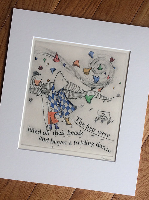 'Twirling Dance' Matted Print by Elizabeth Andrews
