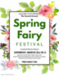 Spring Fairy fest tall with lots of info