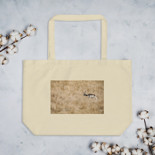 Male Bluckbuck Antelope - Large organic tote bag