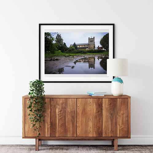 Reflections of Waltham Abbey Print
