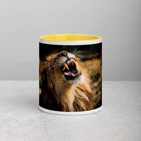Male Lion - Mug with Colour Inside