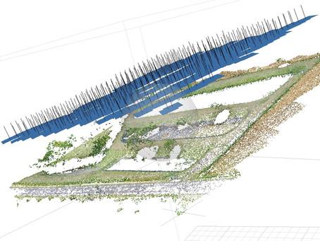 Modélisation par drone et processus photogrammétrie d'une station d'épuration en Seine-Maritime.
