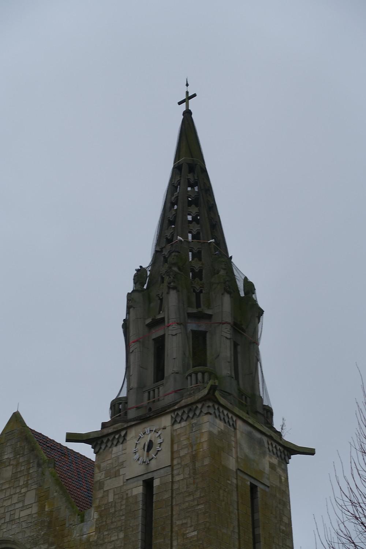 Clocher de l'Eglise de Brancourt en Laonnois  : photogrammétrie par drones (www.dronesbtp.fr)