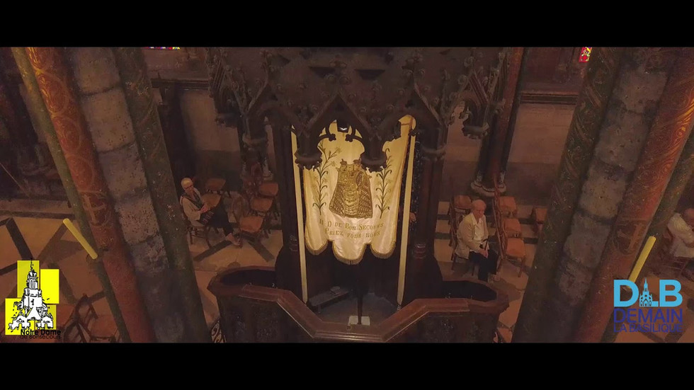 Vidéo par drone de la basilique Notre Dame de Bonsecours
