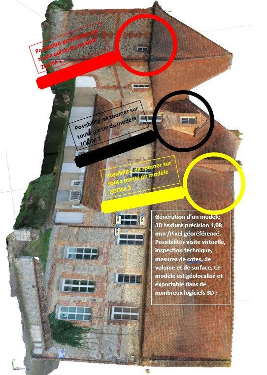 Photogrammétrie Modèle numérique 3D www.dronesbtp.fr