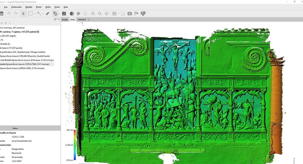 Modèle numérique de surface suite à la photogrammétrie par dronesbtp