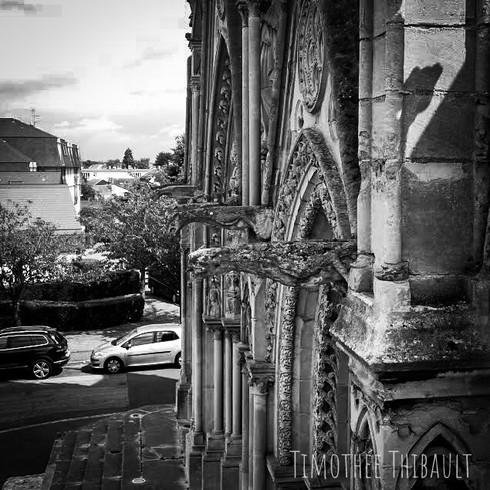 Photo prise par drone de la basilique Notre Dame de Bonsecours