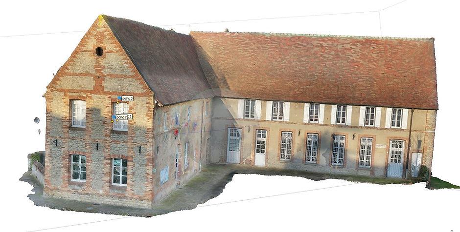 Modèle numérique tuilé texturé d'un couvent des Capucins précision 1,08 mm/pixel par Dronesbtp www.dronesbtp.fr