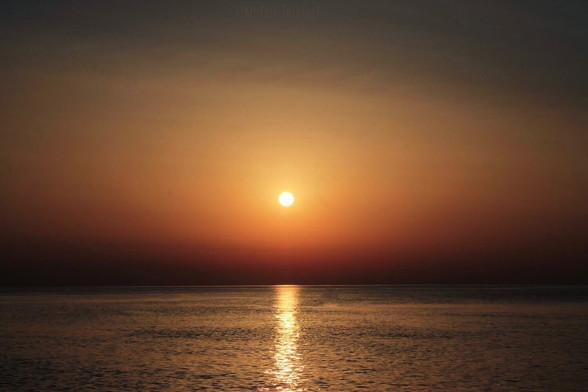 Photo d'un couché de soleil à Dieppe