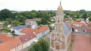 Numérisation 3D de l'Eglise Saint-Vaast de la Cardonnette par Drones BTP